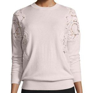 Ted Baker London Tae Lace-Cutout Sweater Nude Pink